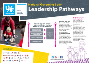 National Governing Body Leadership Pathways