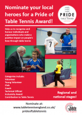Pride of Table Tennis Awards - nominations now open
