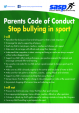 SASP Parents Code of Conduct