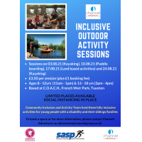 Inclusive Outdoor Activity Session with Channel Adventure (Kayaking) 8 - 12 yrs