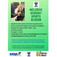 Sensory Sports Session with Bristol Bears Community Foundation