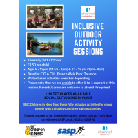 Inclusive Outdoor Activity Session with Channel Adventure (Water Based Activities) 13 -18 yrs