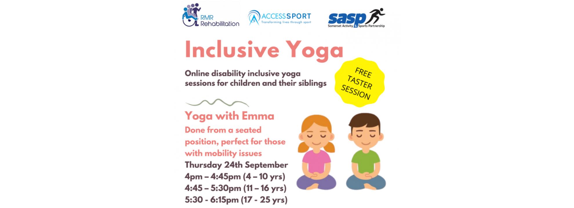 Inclusive Yoga Banner